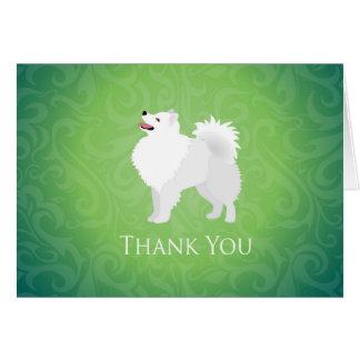 Amerikanischer Eskimohund - danke Grußkarte