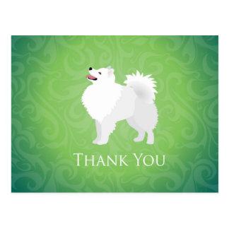 Amerikanischer Eskimohund danken Ihnen zu Postkarte