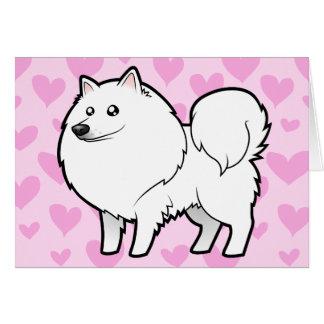 Amerikanischer Eskimohund/deutsche Spitz-Liebe Karte