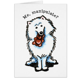Amerikanischer Eskimohund manipulieren Grußkarte