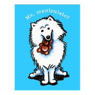 Amerikanischer Eskimohund manipulieren Postkarte