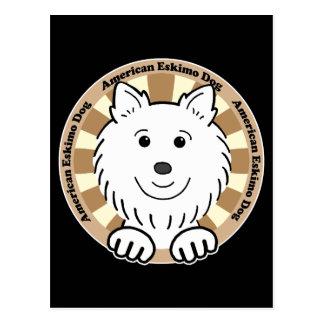 Amerikanischer Eskimohund Postkarte
