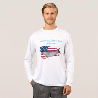 amerikanischer Fischer des gestreiften Basses T-Shirt