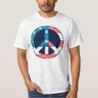 Amerikanischer Friedenszeichen-Schmutz T-Shirt