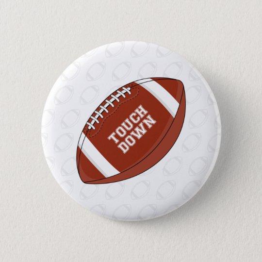 Amerikanischer Fußball-Knopf Runder Button 5,1 Cm