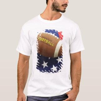 Amerikanischer Fußball mit der US-Flagge T-Shirt