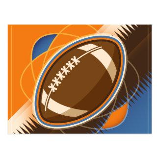 Amerikanischer Fußball-Sport-Ball-Spiel Postkarte