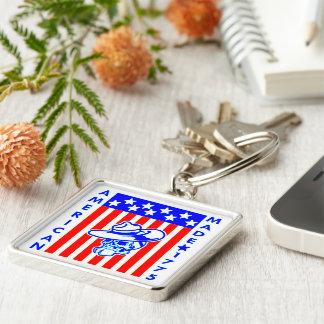 Amerikanischer gemachter Schädel-Flaggen-Soldat Schlüsselanhänger