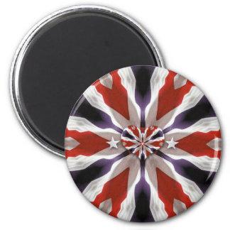 Amerikanischer Herz-Magnet! Runder Magnet 5,1 Cm