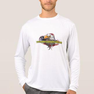 Amerikanischer Herz-Radio lang Sleeved weißes X3l T-Shirt