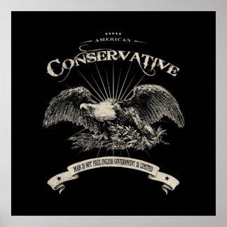 Amerikanischer Konservativer Posterdrucke