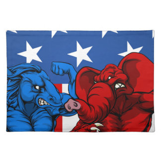 Amerikanischer Politik-Elefant-Esel-Kampf Tischset