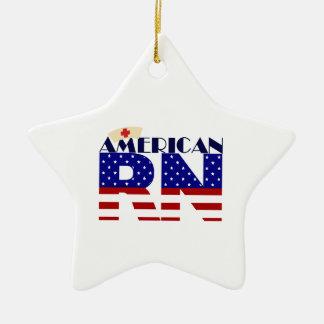 Amerikanischer RN Keramik Stern-Ornament