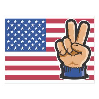 Amerikanischer Sieg Postkarte