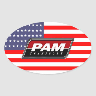 Amerikanischer Stolz PAM-Transport Ovaler Aufkleber