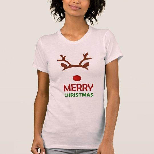 Amerikanischer T - Shirt der Ren-Frauen Kleider