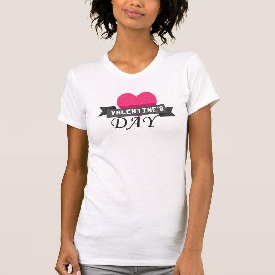 Amerikanischer T - Shirt der Valentine-Tagesfrauen
