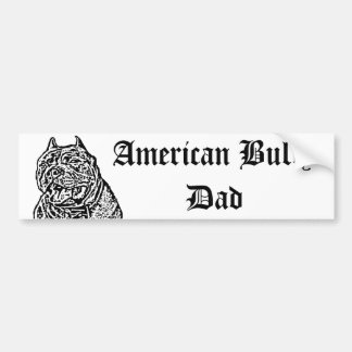 Amerikanischer Tyrann-Vati-HundeAutoaufkleber Auto Sticker