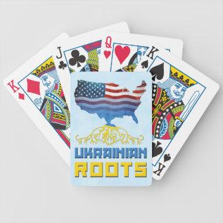 Amerikanischer Ukrainer wurzelt Kartensatz Bicycle Spielkarten