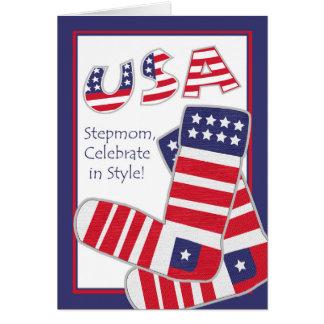 Amerikanischer Unabhängigkeitstag für Stiefmutter, Grußkarte
