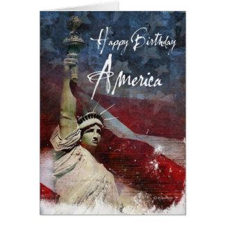 Amerikanischer Unabhängigkeitstag Karte