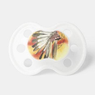 Amerikanischer Ureinwohner Headresss Schnuller