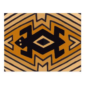 Amerikanischer Ureinwohner Mimbres Bär Postkarte