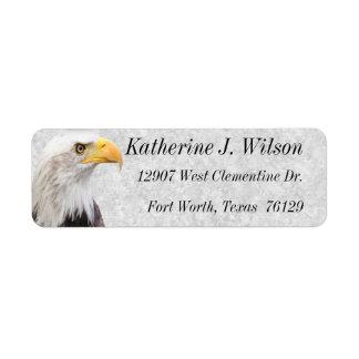 Amerikanischer Weißkopfseeadler-persönliche Rücksende Aufkleber