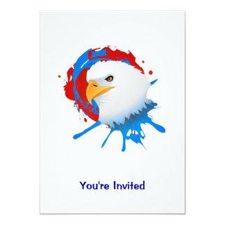 Amerikanischer Weißkopfseeadler-rotes weißes u. Karte