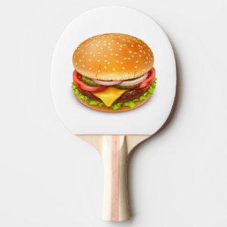 Amerikanisches Burger-Klingeln Pong Paddel Tischtennis Schläger