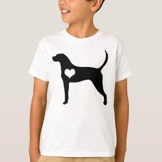 Amerikanisches Englischcoonhound-Herz scherzt T - T-Shirt
