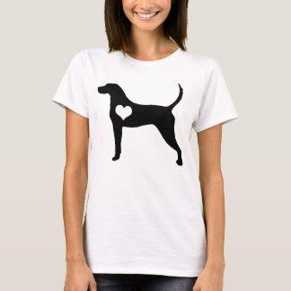 Amerikanisches Englischcoonhound-Herz-T - Shirt