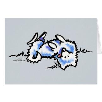 Amerikanisches Eskimohundespiel tot Grußkarte