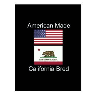 """""""Amerikanisches geborenes. Kalifornien züchtete"""" Postkarte"""
