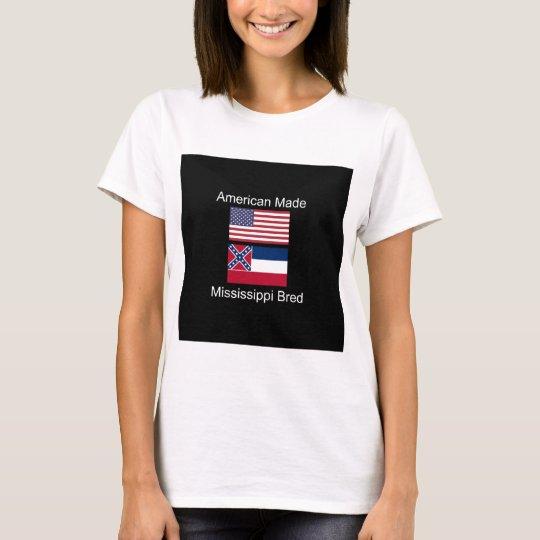 """""""Amerikanisches geborenes. Mississippi züchtete"""" T-Shirt"""