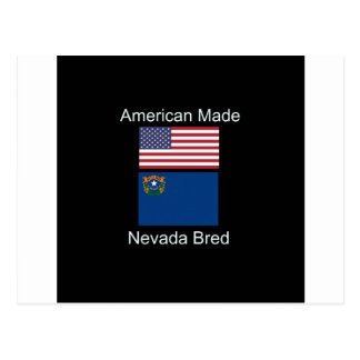 """""""Amerikanisches geborenes. Nevada züchtete"""" Postkarte"""