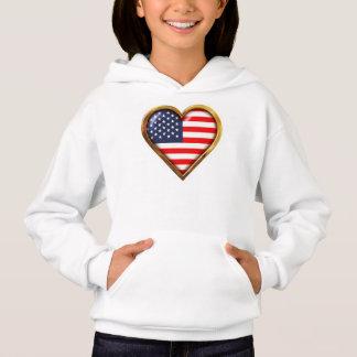Amerikanisches Herz Hoodie