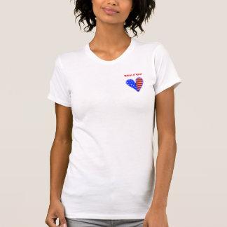 Amerikanisches Herz kundengebundene Matrone des T-Shirt