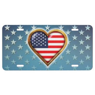 Amerikanisches Herz US Nummernschild