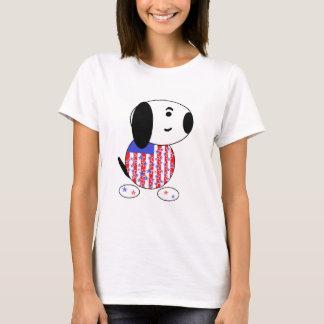 Amerikanisches Hundefrauen-T-Stück T-Shirt