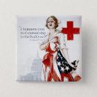 Amerikanisches rotes Kreuz-Vintages Quadratischer Button 5,1 Cm