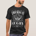 Amerikanisches Rugby - Rolle T-Shirt