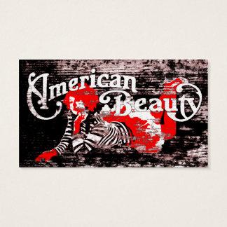 amerikanisches Schönheitsempfehlungsprogramm Visitenkarten