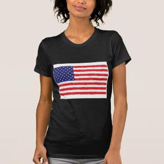 Amerikanisches USA-Flagge *Hand Sketch* wir Flagge Tshirt