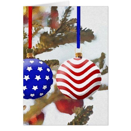 Amerikanisches Weihnachten Grußkarte