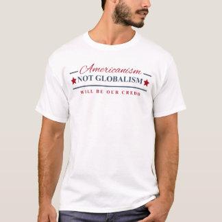 Amerikanismus-nicht Globalismus-Donald- T-Shirt