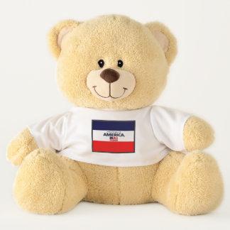Amerikas Flagge färbt Teddybären