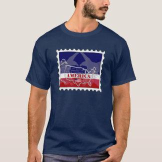 Amerikas genannter kahler Adler-Briefmarken-T - T-Shirt