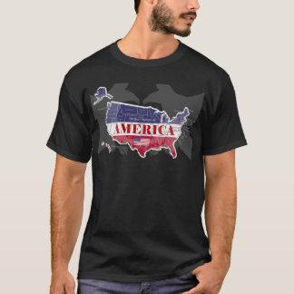 Amerikas genannter kahler Adler T-Shirt-2 States T-Shirt
