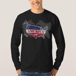 Amerikas genannter kahler Adler T-Shirt-3 States T-Shirt